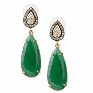stella & dot ~ gorgeous green liz drop earrings